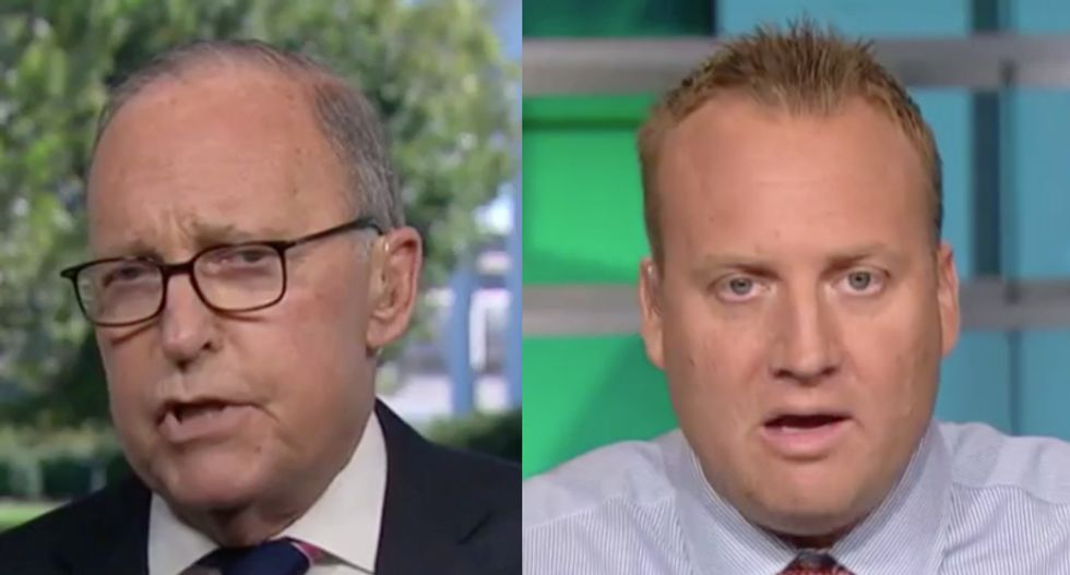 Larry Kudlow touts the Trump economy on CNBC -- and immediately gets slapped down by a financial analyst