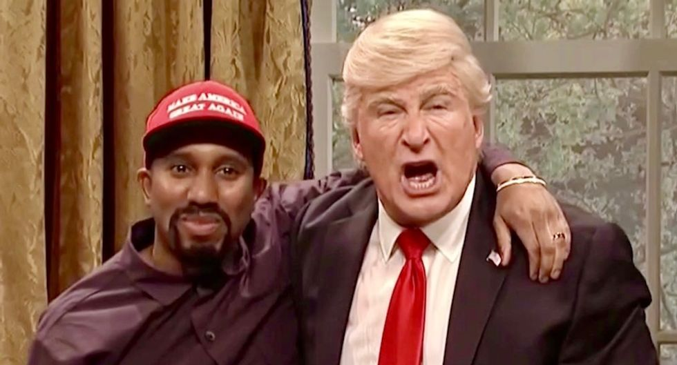 WATCH: Saturday Night Live mocks Trump's meeting with Kanye West