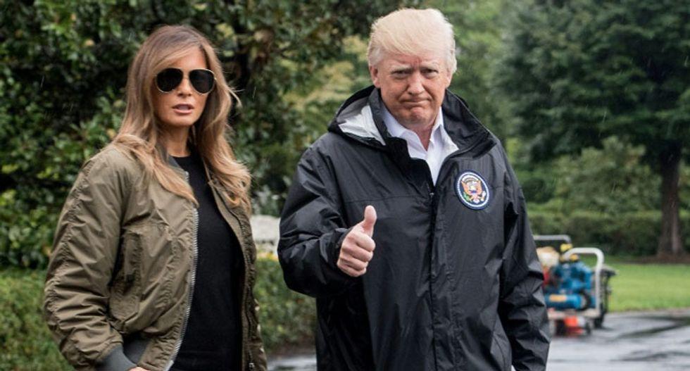 WATCH LIVE: President Trump tours Texas flooding after Hurricane Harvey