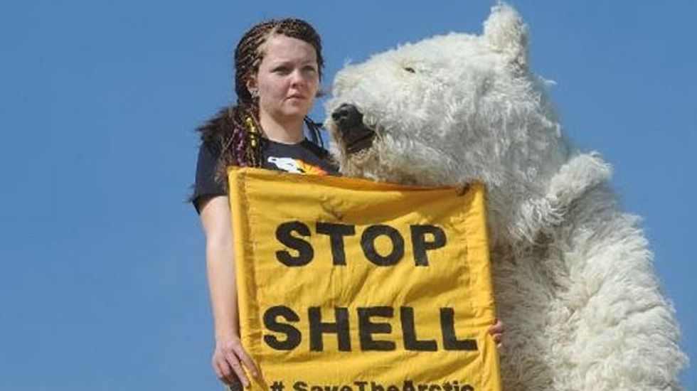 Spain holds Greenpeace ship protesting oil exploration