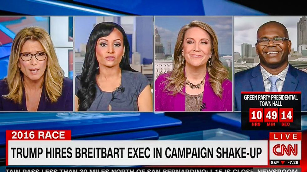 CNN guests stare at Katrina Pierson like crazy person for denying Trump campaign shake-up happened