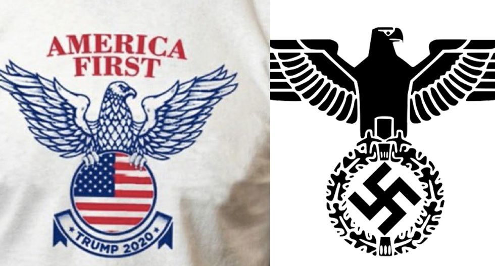 'It's real': Trump campaign's new T-shirt insignia looks a lot like a Nazi symbol — and people are noticing