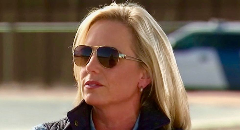 'Doing what I can for the next few days': Kirstjen Nielsen trying to live her best life – now not a care in the world