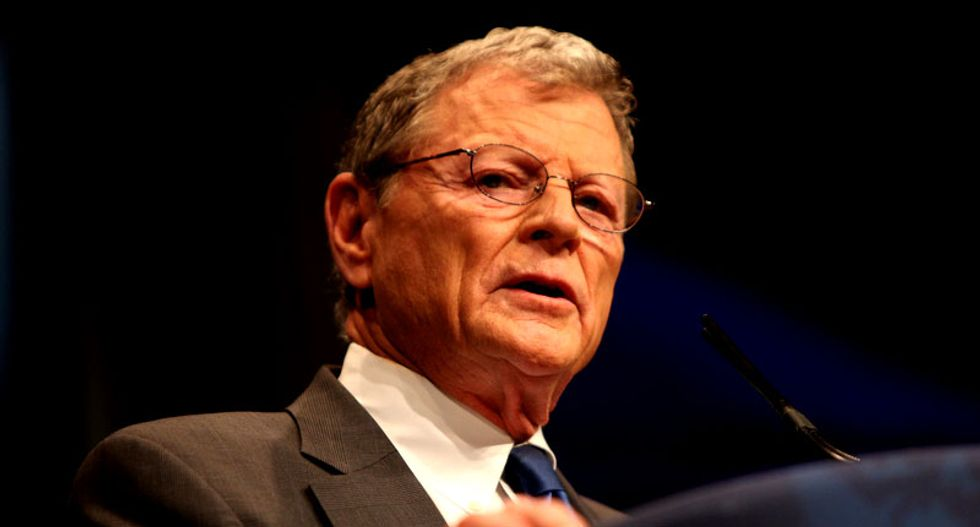 GOP head of Senate environment committee says carbon pollution is good for the Earth