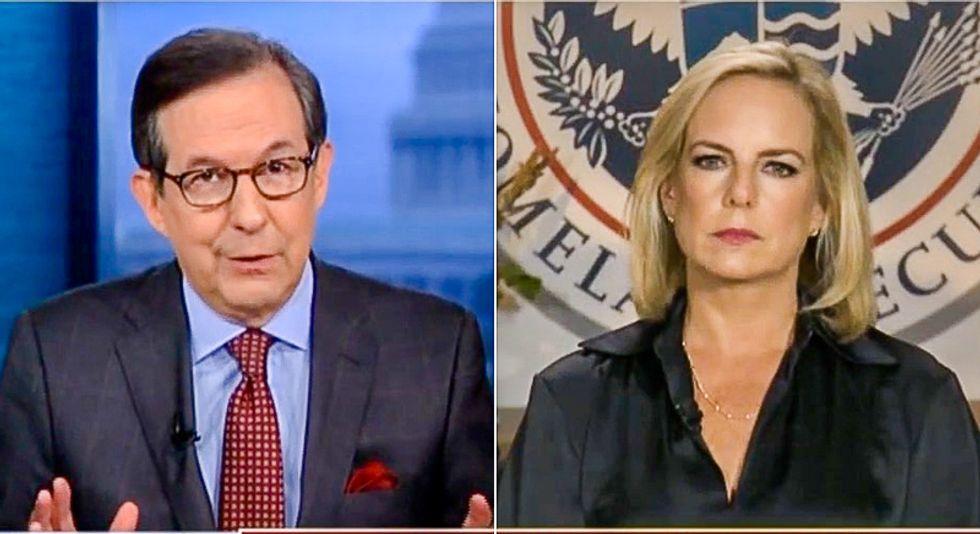 Chris Wallace grills DHS Sec. Kirstjen Nielsen: How do babies in caravan 'threaten national security'?