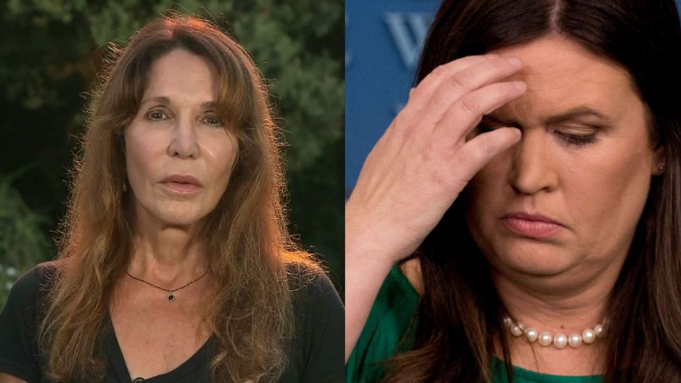 Watch Ronald Reagan's daughter Patti Davis flatten Sarah Sanders: 'I don't know what movie she's been watching'