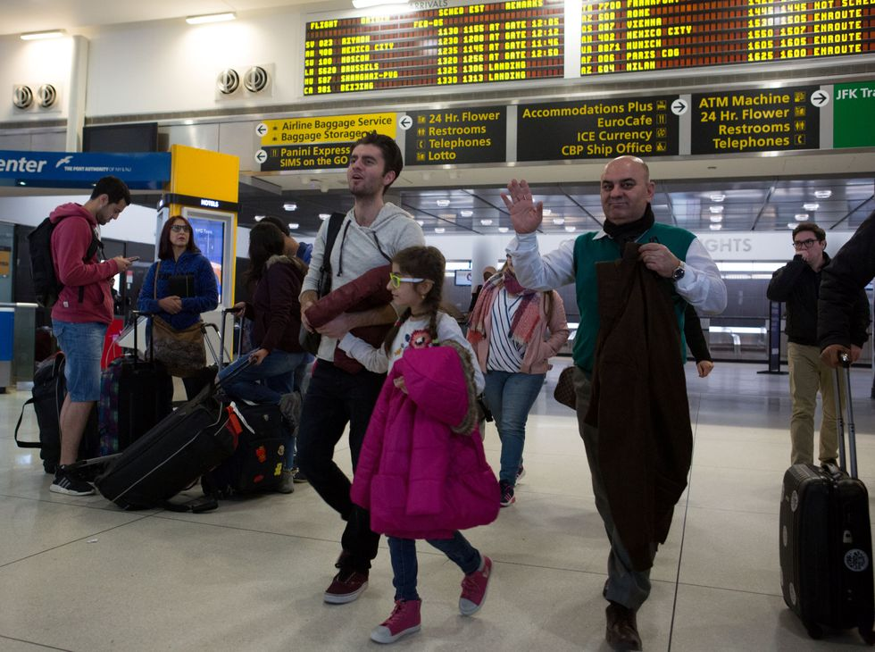 Safe on US soil, new arrivals breathe sigh of relief