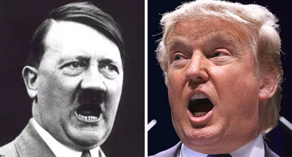 This quote of Hitler eerily describes Trump's sinister worldview