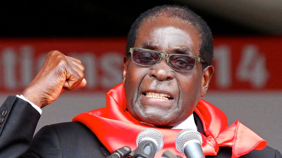 Zimbabwe's President Robert Mugabe stands up to 'Giant Gold Goliath' Trump at UN