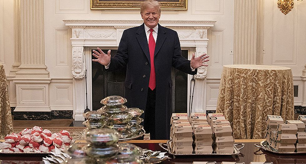 Trump is devouring fast food -- and aides are 'lighting scented candles' to cover up the stench: report