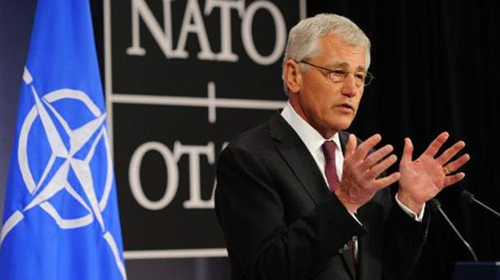 Defense Sec. Hagel urges military restraint in cyberspace