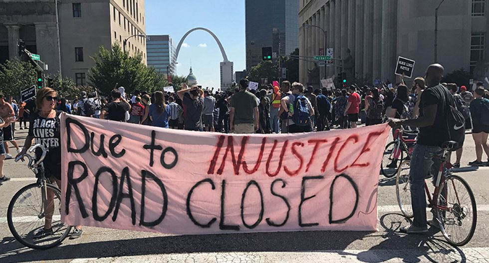 WATCH LIVE: Protesters pour into St. Louis streets after murder acquittal for ex-cop