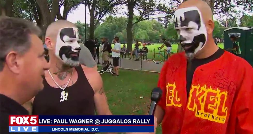 Watch Fox News affiliate simulcast the sparsely attended pro-Trump 'Mother of All Rallies' and Juggalos rally on DC Mall