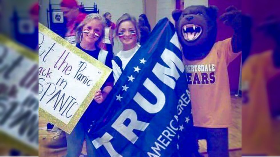'Put the panic back in Hispanic': Alabama high school student says racist sign 'not meant in racial way'