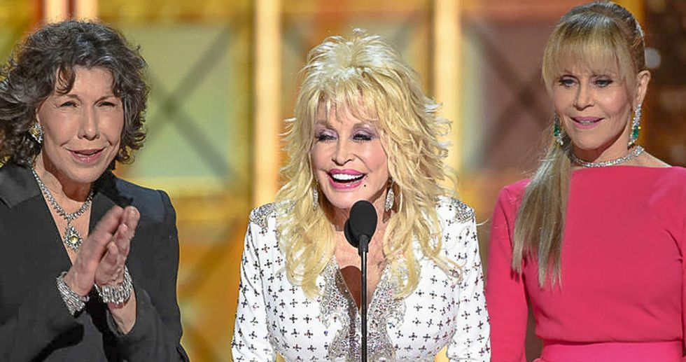 Right-wingers ravage Dolly Parton's Facebook page with hate after fellow actresses mock Trump at Emmys