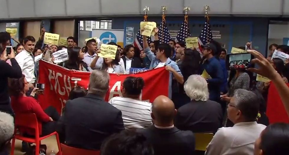 'Democrats deport!' Dreamers chase Nancy Pelosi out of her own press conference
