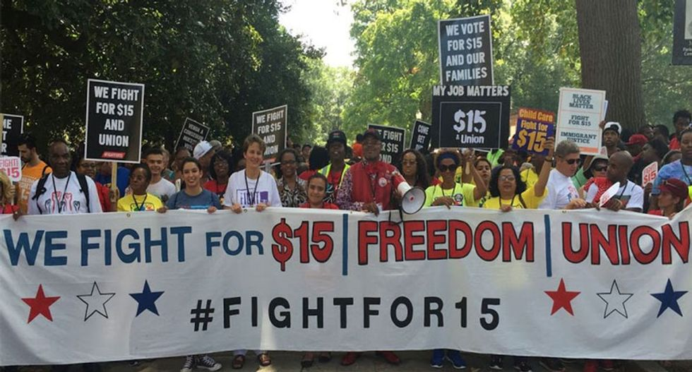 EXCLUSIVE: Some of SEIU's 'Fight for $15' workers aren't unionized -- and don't make $15 an hour