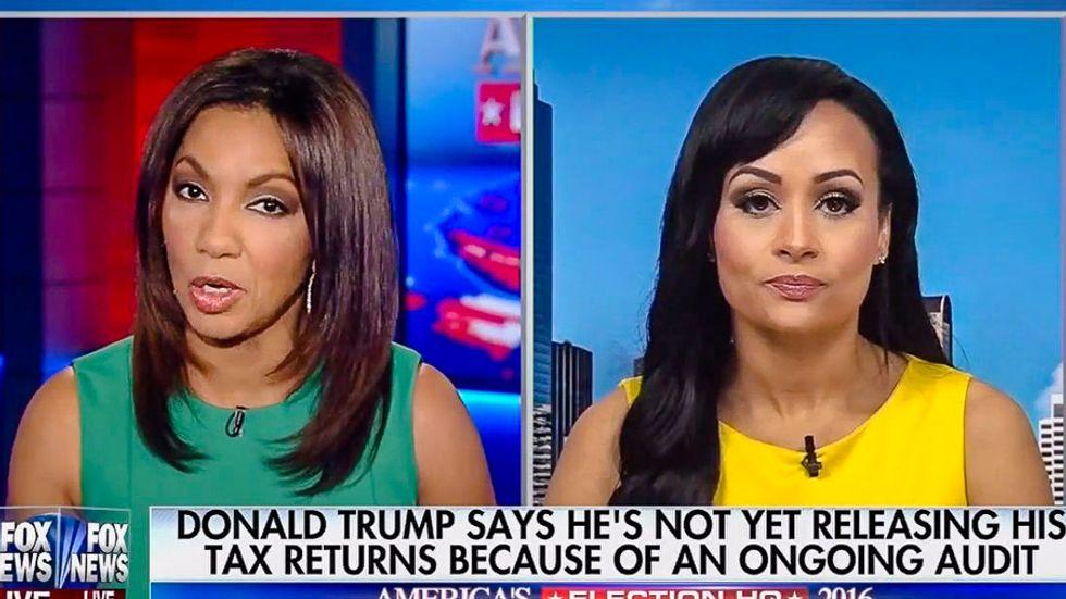 WATCH: Fox host's sarcastic interview perfectly destroys Katrina Pierson's Trump tax return spin