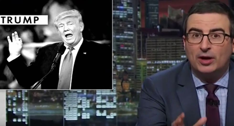 John Oliver slams Trump's 'sarcastic' ISIS remarks: 'It's the douchebag's apology'
