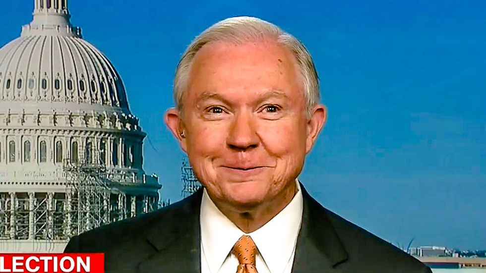 'Deadly serious in a rhetorically unserious way': Jeff Sessions twists into pretzel defending Trump