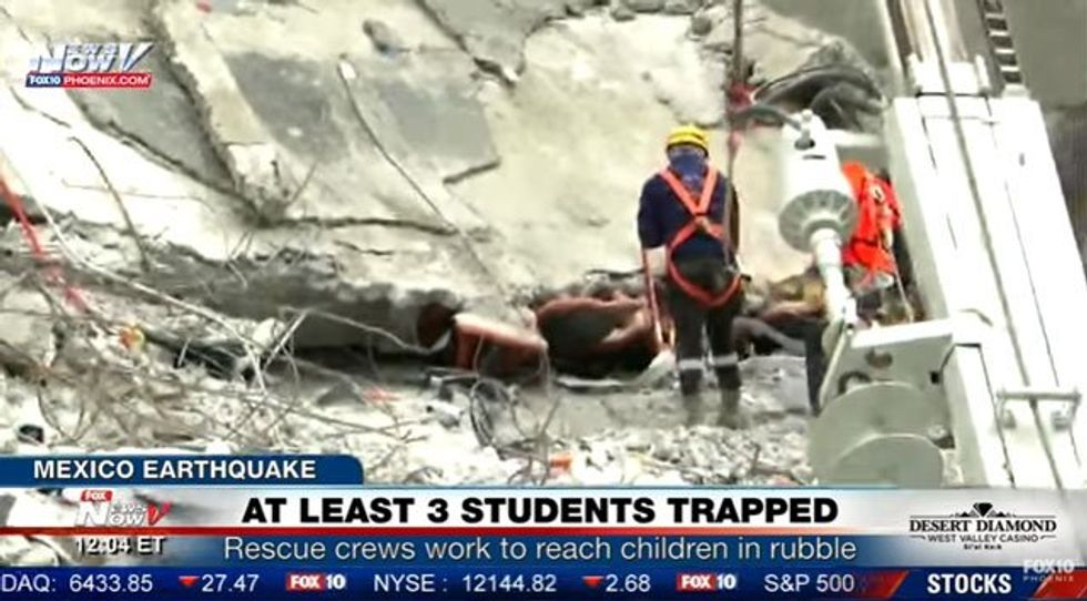 WATCH LIVE: Rescue workers race to save up to 5 kids still trapped under collapsed Mexico school