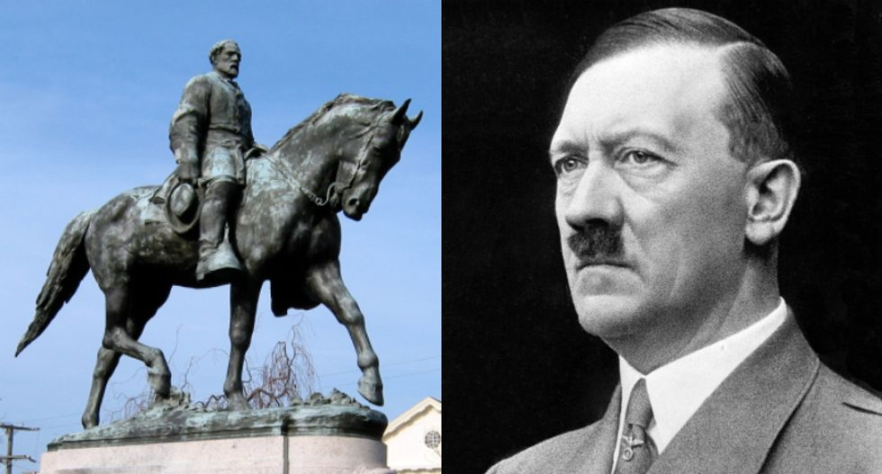 Confederate monuments reminiscent of Hitler shock German students visiting the US