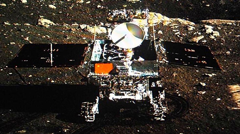 China's Jade Rabbit rover sends first moon photos