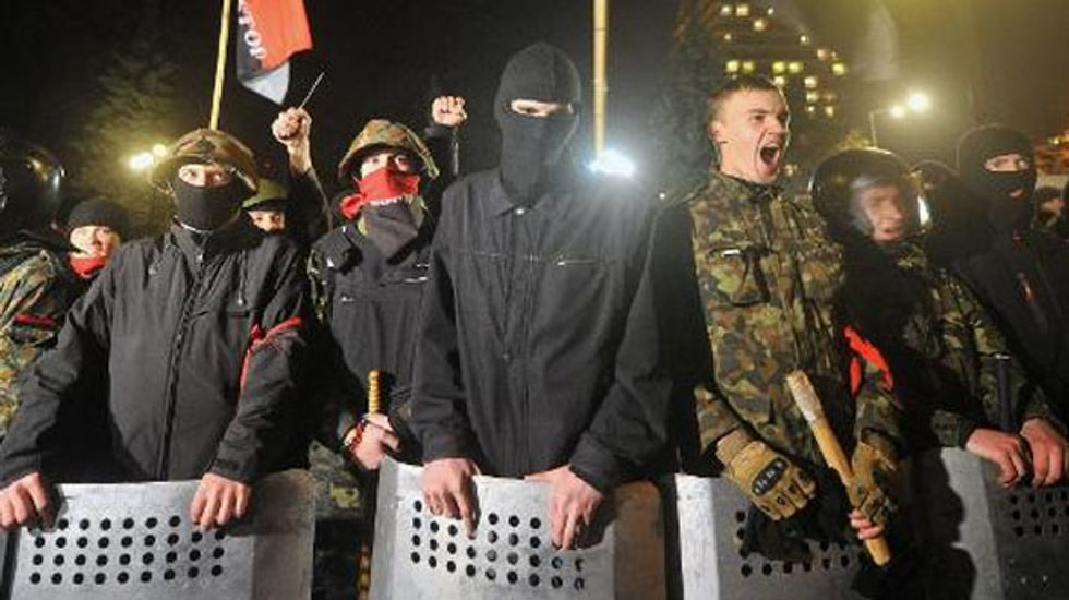 'We are watching you,' protesters warn Ukraine's new leaders