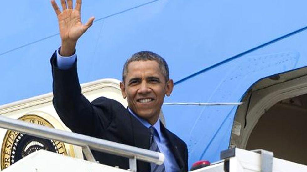 Barack Obama leaves Rome for Saudi Arabia
