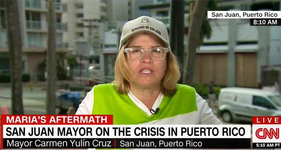 'Dammit -- people are dying here': Furious San Juan mayor shreds White House response to Puerto Rico crisis
