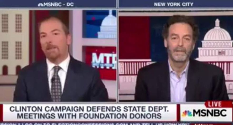 WATCH: Clinton advisor scorches MSNBC's Chuck Todd for pushing right-wing theories about foundation