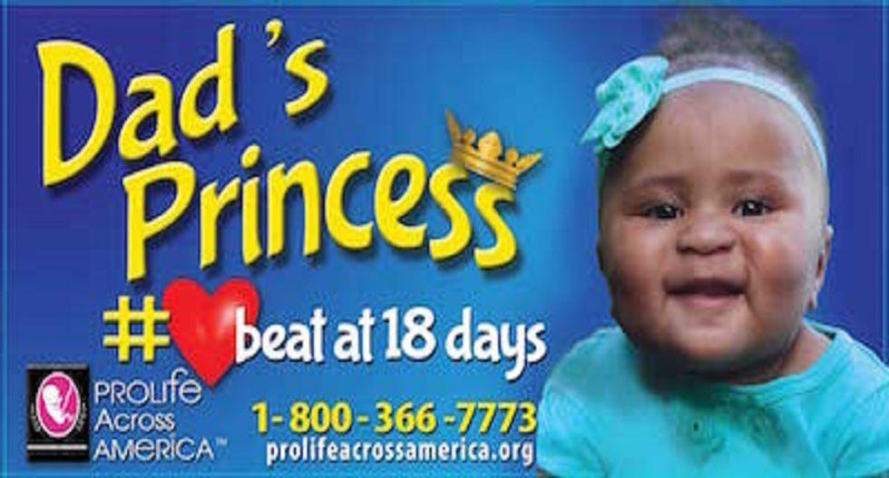 Anti-abortion group targets black neighborhoods with weird 'dad's princess' billboards