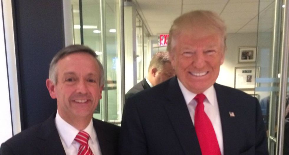 Trump's spiritual advisor busted by the Pentagon for illegally using military seals in ads for his church