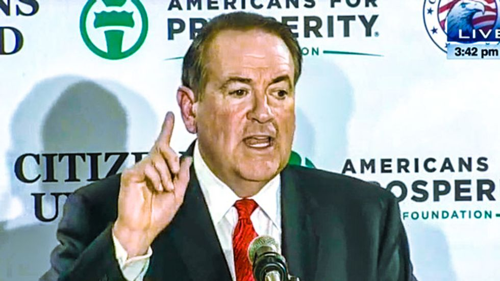 Mike Huckabee tells Koch-backed group: 'More freedom in North Korea' than the U.S.