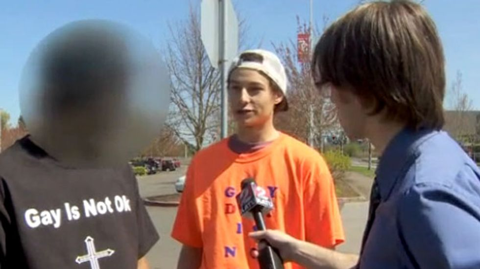 Religious Oregon teens wear 'Gay Is Not OK' shirts to school to protest lack of 'straight day'