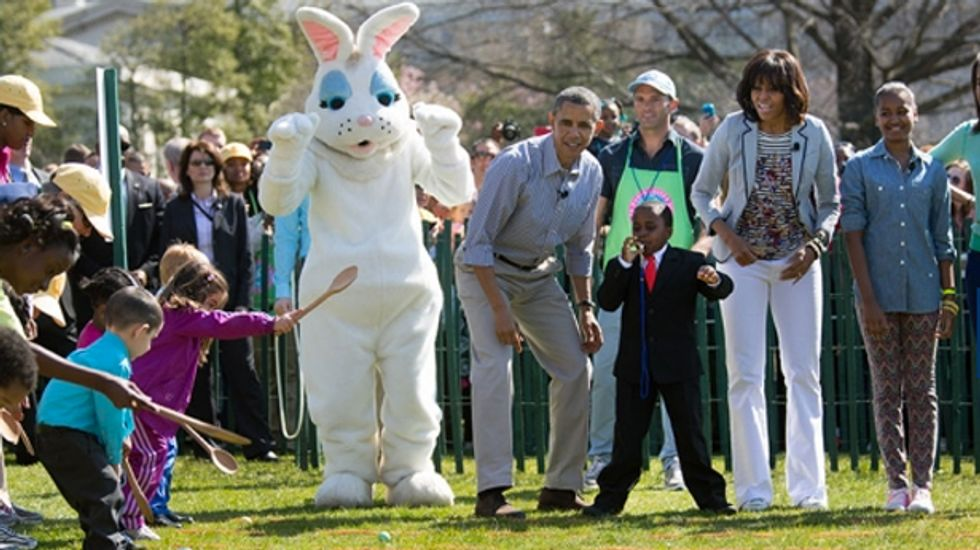PETA demands Michelle Obama not use real eggs for White House Easter egg roll