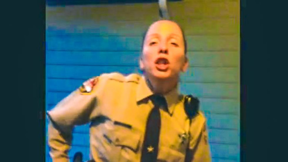 NC deputy goes berserk, snatches phones from family after recording proves she 'lied'