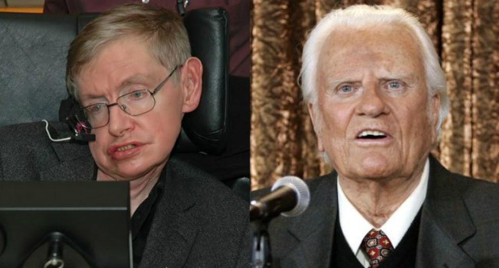 Christian website editor: Stephen Hawking was kept alive by Satan to counter Billy Graham's gospel