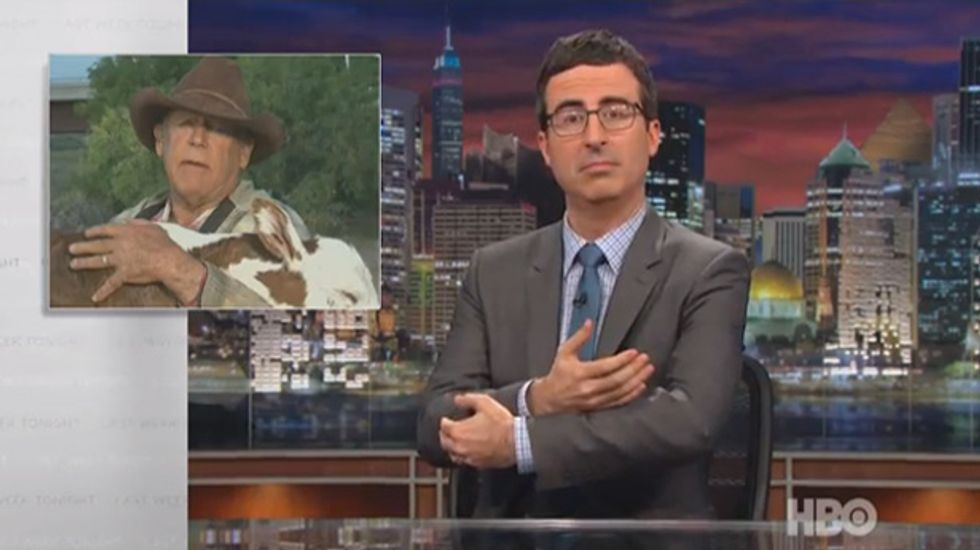 HBO's John Oliver: Donald Sterling 'one-upped'  Bundy for week's biggest racist