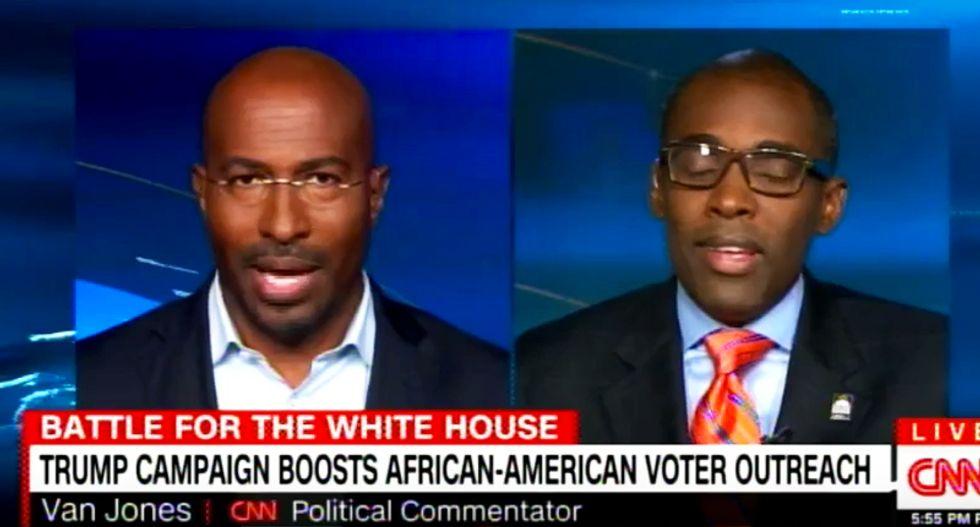 Van Jones bursts Trump fan's bubble: Hillary's doing better with blacks than Obama