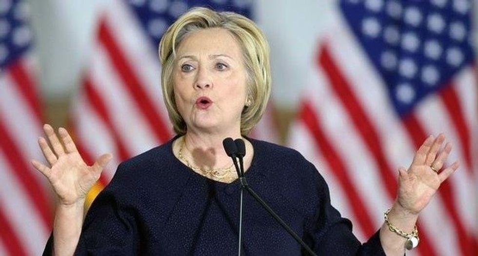 Clinton calls 'fake news' a threat to US democracy