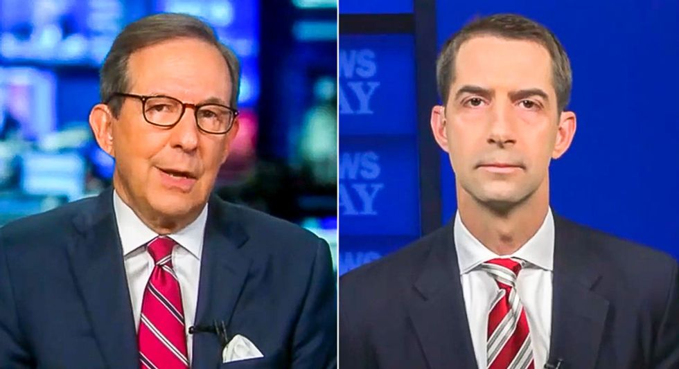 'You don't see any hypocrisy?' Chris Wallace filets Tom Cotton by replaying his Merrick Garland speech