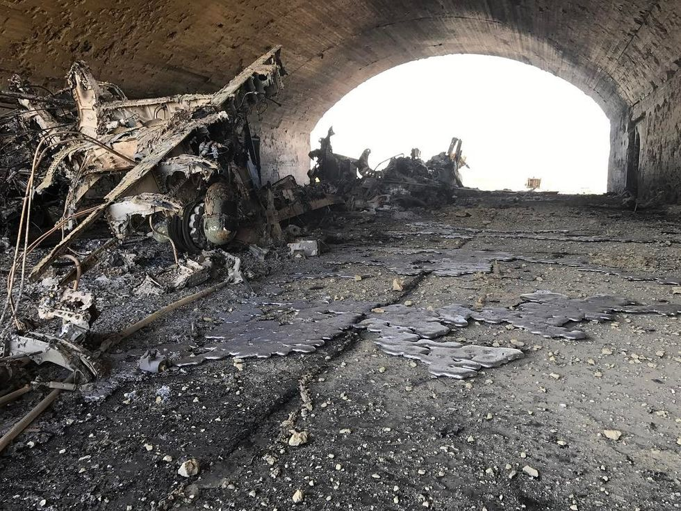 Images from the aftermath of the United States airstrike in Syria show the utter destruction left in its path