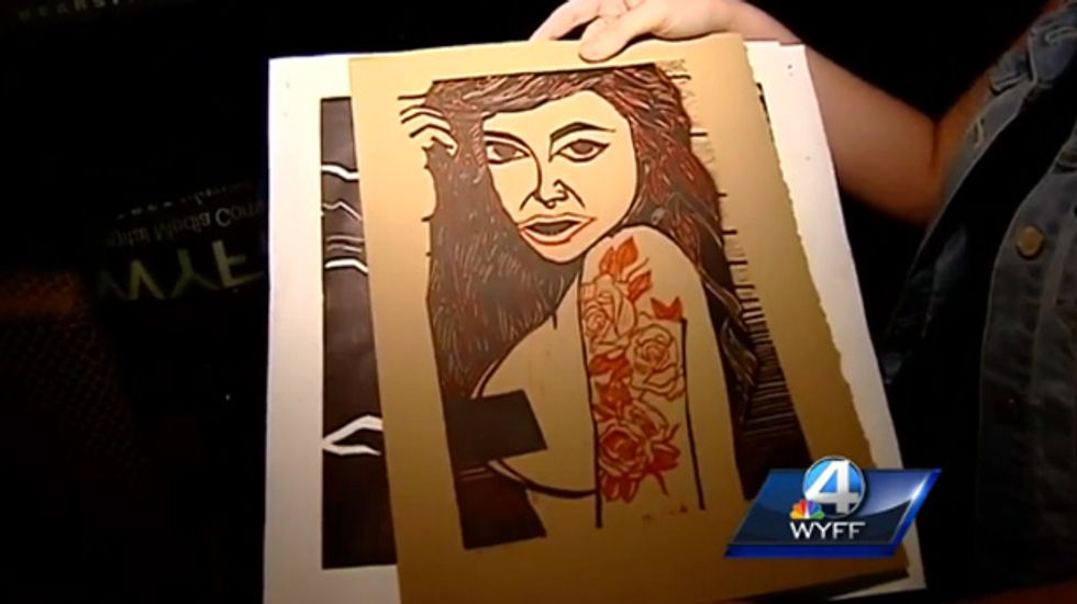 SC teen's 'Rape Culture' artwork reflecting her own sexual assault banned from art exhibit