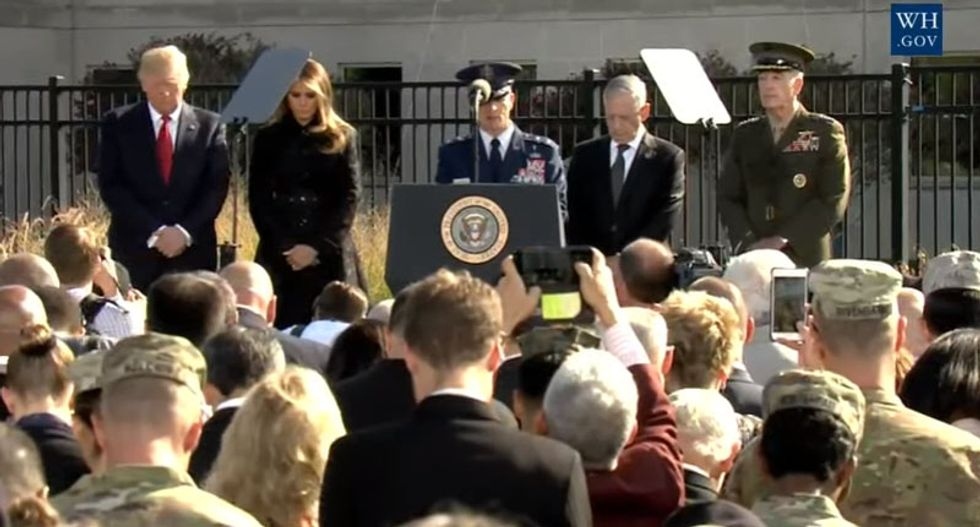 WATCH LIVE: Trump participates in 9/11 observation at the Pentagon