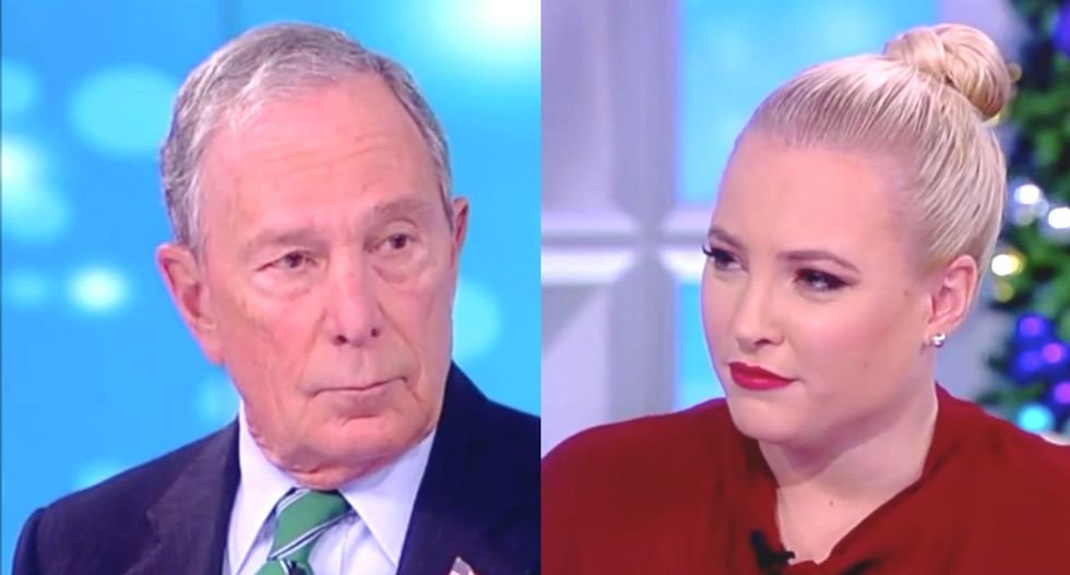 Former New York mayor patiently explains to The View's Meghan McCain why supporting background checks isn't anti-gun