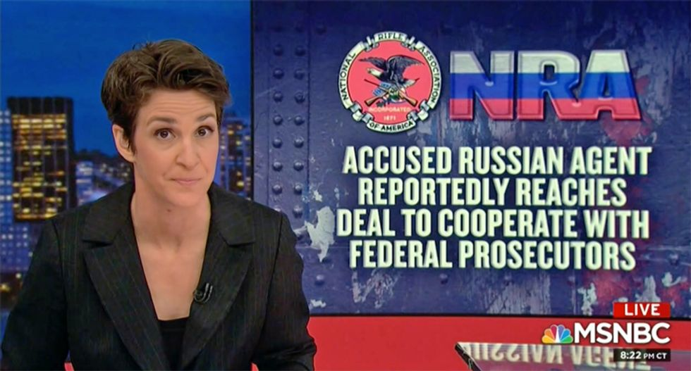 'Something weird happened with the NRA in 2016': Maddow says their 'money just doesn't make sense'