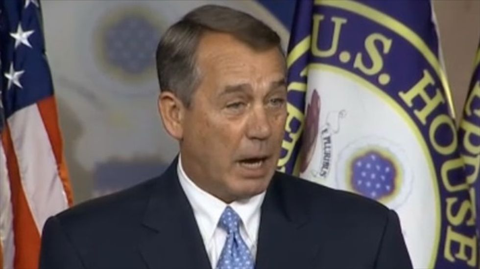 John Boehner: Talk of impeaching Obama is 'a scam started by Democrats'