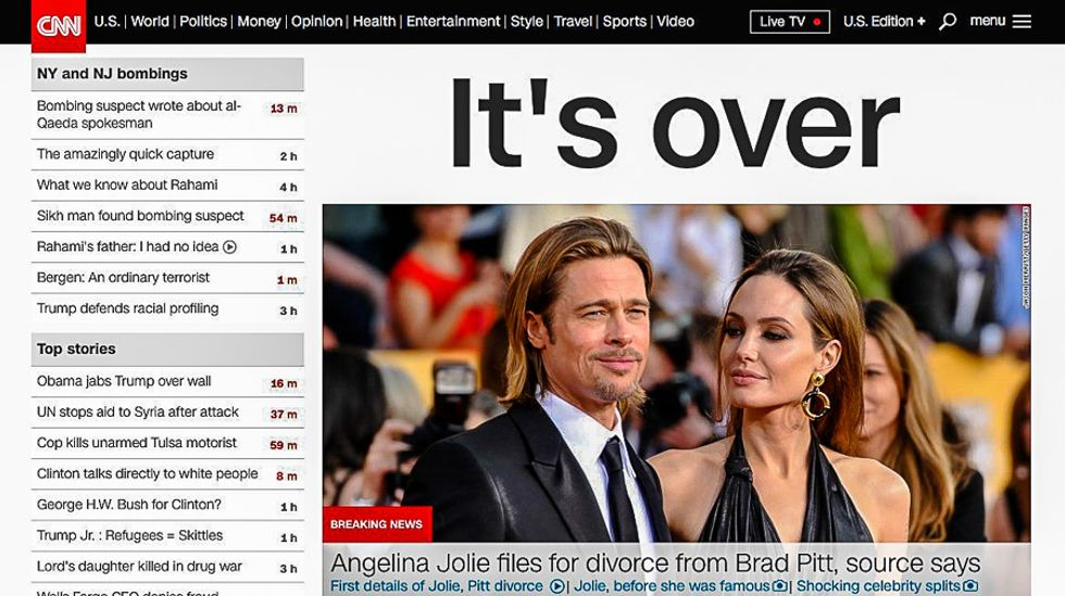 CNN viewers revolt over 'breaking news' on Angelina Jolie instead of black man shot by police