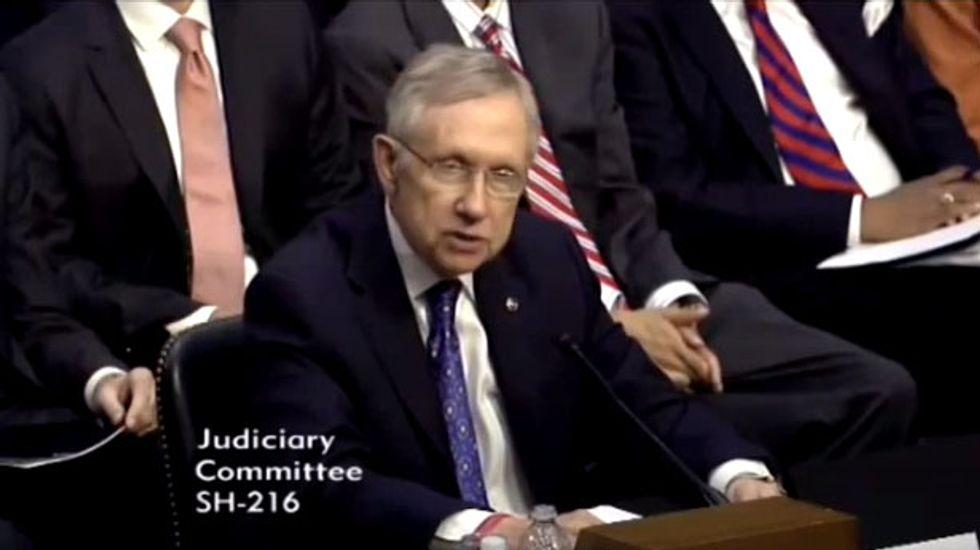 Sen. Harry Reid: American politics is currently just a war between billionaires